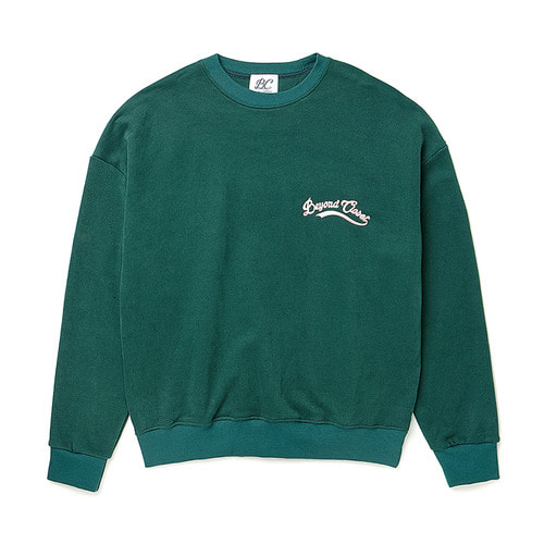 [기모]10 ANNIVERSARY LOGO SWEAT-SHIRTS DEEP GREEN