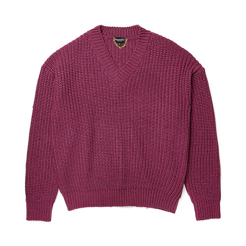 [COLLECTION LINE]HEAVY WEIGHT PULL OVER KNIT PURPLE