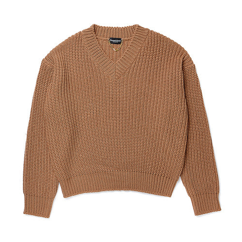 [COLLECTION LINE]HEAVY WEIGHT PULL OVER KNIT BEIGE