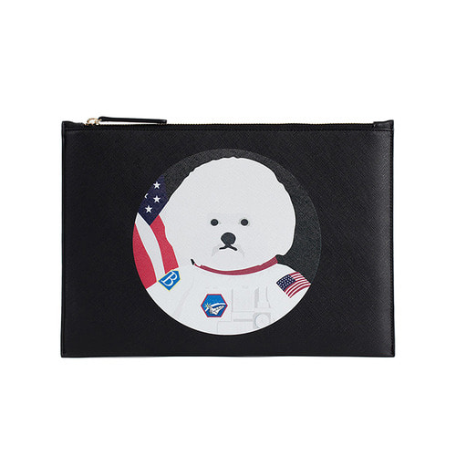 APOLLO DOG SAFFIANO CLUTCH 2018VER BLACK